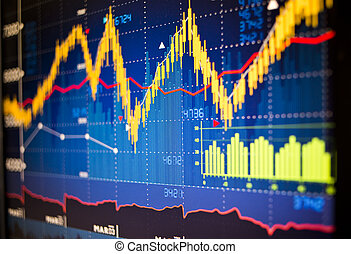 Stock Market Graphs - Stock market index graphs background