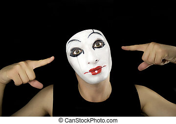 portret, mime