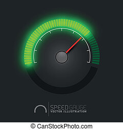 Vector Green Speed Gauge