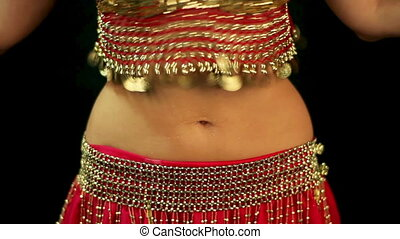 belly dancing - Woman performing belly dance