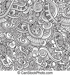 Music pattern - Music Sketchy Notebook Doodles Hand-Drawn...