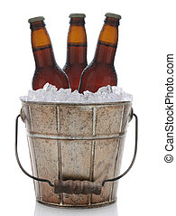 Old Fashioned Metal Beer Bucket - An old fashioned bucket...