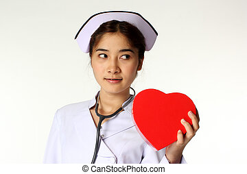 Nurse and symbol of heart