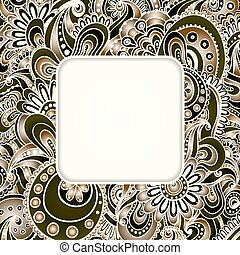 Abstract graphic vector ethnic pattern's border. - Isolated...