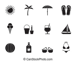 Holiday and beach objects