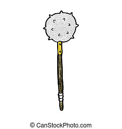 cartoon medieval mace