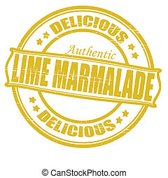 Lime marmalade - Stamp with text lime marmalade inside,...