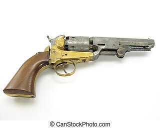 Antique Pistol - An antique pistol showing plenty of wear...
