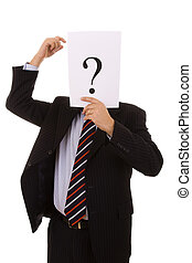 Who am i - who is this businessman hiding behind the...