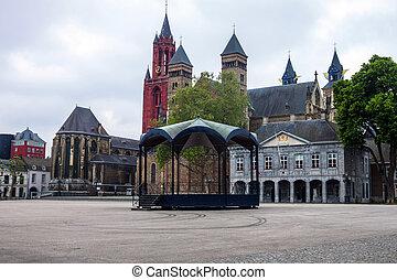 Churches in Maastricht - Saint Servatius basilica and Saint...