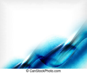 Blue aqua wave designed business poster Illustration of blue...