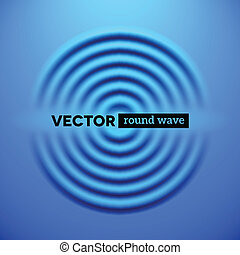 Abstract background with blue ripple waves - Abstract vector...