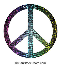 peace symbol - colorful illustration with peace symbol on a...