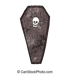 spooky cartoon coffin