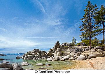 Lake Tahoe - Rocky shore of Lake Tahoe