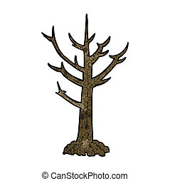 cartoon naked tree