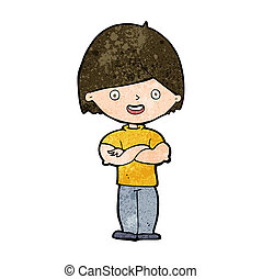 cartoon man with crossed arms