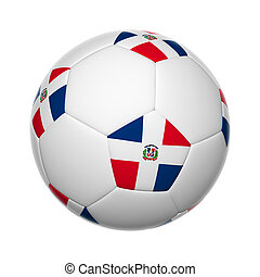 Dominican Republic soccer ball - Flags on soccer ball of...