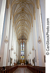 Frauenkirche in Munich - Indoor view of Frauenkirche in...