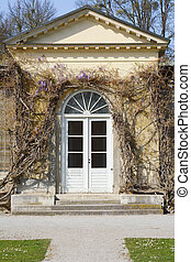 Garden House with Wisteria