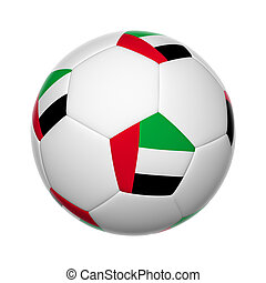 United Arab Emirates soccer ball - Flags on soccer ball of...