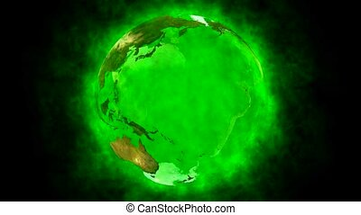 Beauty and green planet Earth - Animation of green planet...