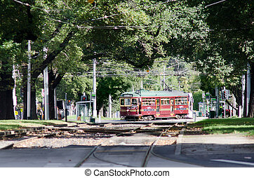 Melbourne City Circle Tram - MELBOURNE, AUS - APR 14 2014: W...