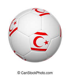 Turkish Republic of Northern Cyprus soccer ball - Flags on...