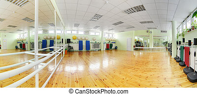 modern european sport gym without people - little bit used...