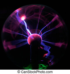 energy - Purple plasma flames drawing from center to margin...