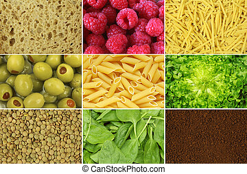 set of food backgrounds