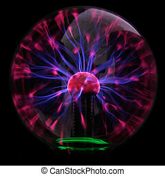 Plasma bubble - Purple plasma flames drawing from center to...
