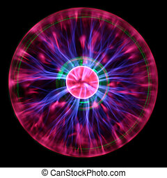 Plasma eye - Purple plasma flames drawing from center to...