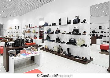 interior, de, zapato, Tienda, en, moderno, europeo, alameda,...