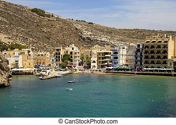 village - small village in Malta at gozo island