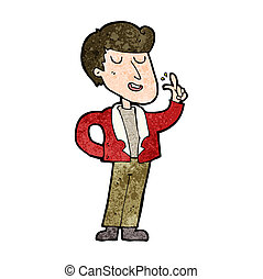 cartoon cool guy snapping fingers
