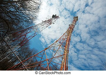 Transmitter - Old tall transmitter tower structures