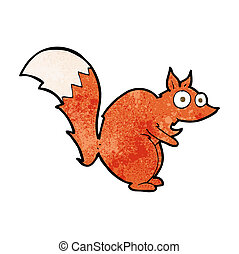 funny startled squirrel cartoon