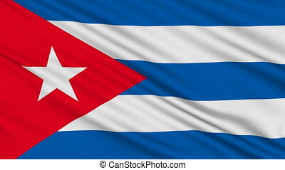 Cuban flag, with real structure of a fabric