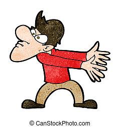 cartoon annoyed man gesturing