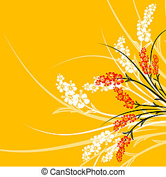 abstract flowers - Abstract background with flowers