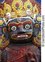 portrait of kali in kathmandu, nepal