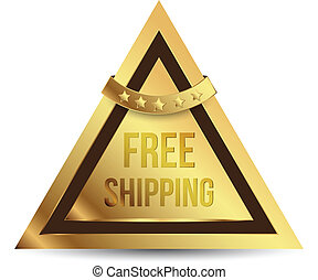 Triangle tag gold free shipping