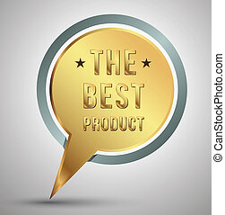 Tag the best product gold
