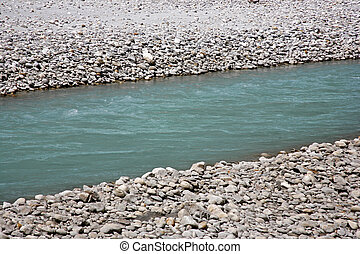 river - pure blue himalayan river water