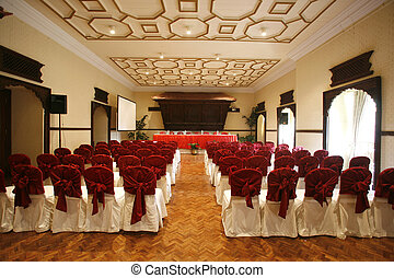 conference hall - luxurious conference hall in hotel