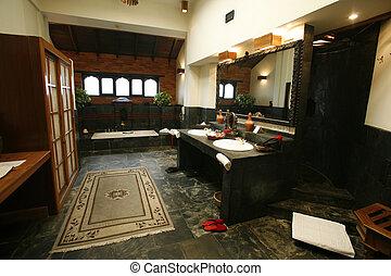 bathroom - luxury ensuite bathroom in hotel