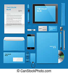 Blue Corporate ID mockup - Business corporate ID template,...
