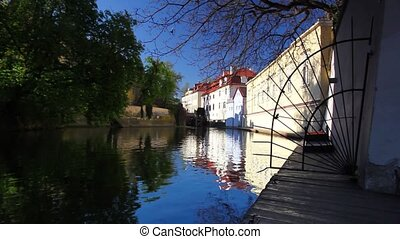 Under the Charles Bridge - View of Certovka under the...