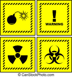 Warning signs Usable for different design